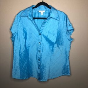 turquoise Dressbarn Blouse Size 18/20